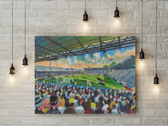 craven cottage  canvas a3 size